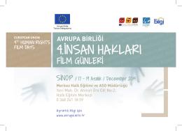 SİNOP / 17 - 19 Aralık / December 2014