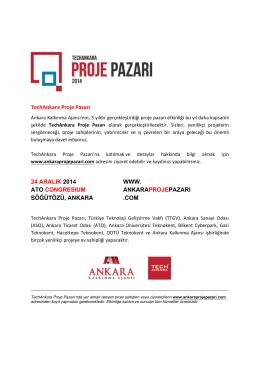 TechAnkara Proje Pazarı 2014