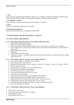 3.2 Kaynağa İşlemine Hazırlık, Kaynak işlemi ve kontrolü