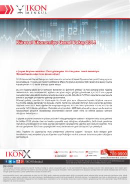 Küresel Ekonomiye Genel Bakış 2014