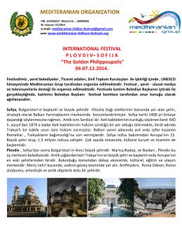 Plovdiv - Sofija - Mediteranian organization