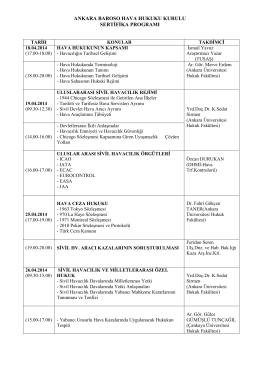 ankara baroso hava hukuku kurulu sertifika programı