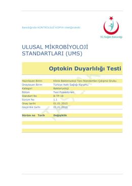 Optokin duyarlılığı - Türkiye Halk Sağlığı Kurumu