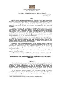 Tam Metin - Avrasya Uluslararası Araştırmalar Dergisi