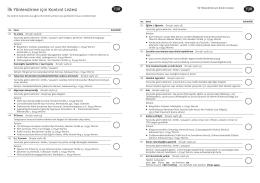 İlk Yönlendirme için Kontrol Listesi