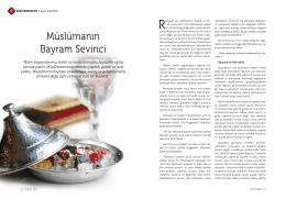 Müslümanın Bayram Sevinci