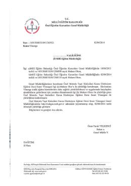 MTSK - Özel Öğretim Kurumları Genel Müdürlüğü