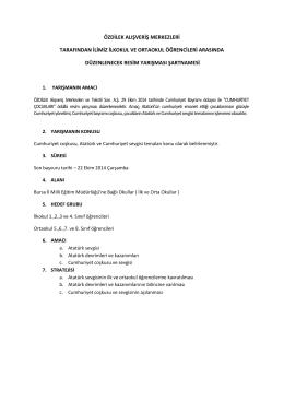 Şartname - Bursa İl Milli Eğitim Müdürlüğü