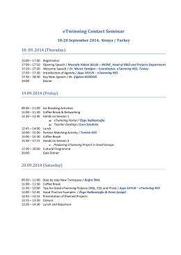 eTwinning Contact Seminar