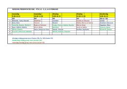 INDELING PRESENTATIES ISDC - PTA 3.2 - 3