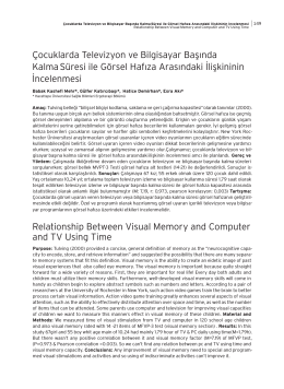 Relationship Between Visual Memory and