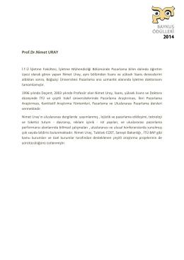 Prof.Dr.Nimet URAY