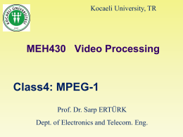 MEH430 Video Processing