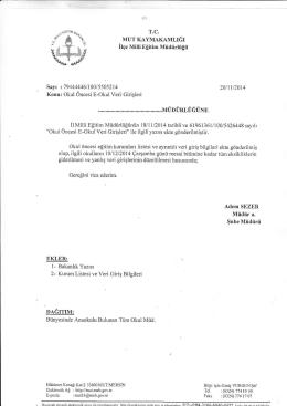 Ir^lJJ - mut ilçe millî eğitim müdürlüğü