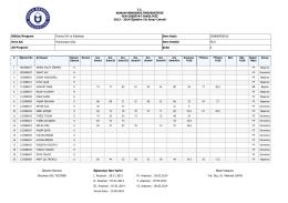 2014 Öğretim Yılı Sınav Cetveli Bölüm/Program Frans