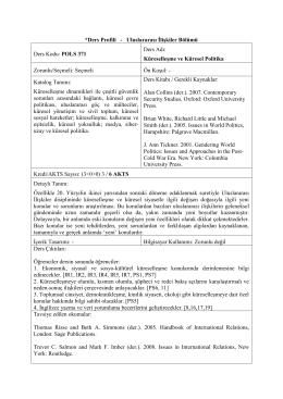 POLS 371 Küreselleşme ve Küresel Politikaİndir
