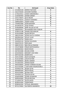 ENM418_Grup Liste