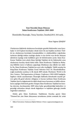Yeni Yüzyılda İslam Dünyası İslam Konferansı Teşkilatı 1969