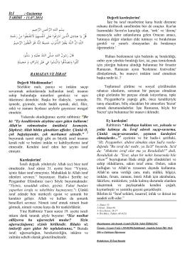 Ramazan ve İsraf
