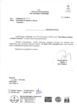 "Ll.Jorrol4 Ş""f : M.DEVAM - mut ilçe millî eğitim müdürlüğü"