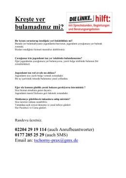 Ü3-Wegweiser türkisch