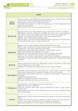 Tarım Takvimi - Mersin İl Gıda Tarım ve Hayvancılık Müdürlüğü
