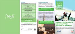 2014 yılı turizm, kent ve sanayi altyapısı mali destek programı