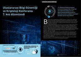 Uluslararası Bilgi Güvenliği ve Kriptoloji Konferansı