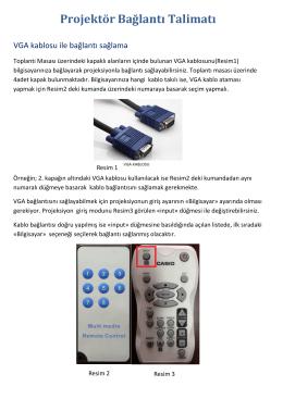 Rektörlük Toplantı Odası Projeksiyon Kullanım Talimatı.