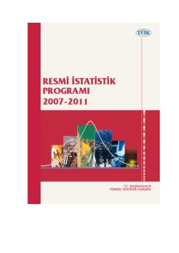 2007-2011 RİP - Resmi İstatistik Programı