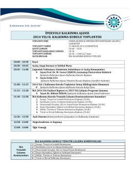 2014 Yılı II. Kalkınma Kurulu Olağan Toplantısı