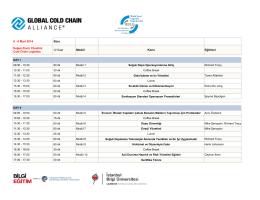 8 - 9 Mart 2014 Süre Modül Konu Eğitimci