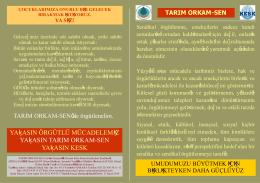 örgütlenme broşür - Tarım Orkam-Sen