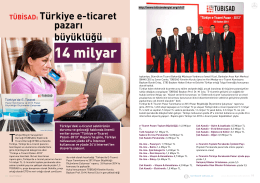 TÜBİSAD: Türkiye e-ticaret pazarı büyüklüğü 14 milyar
