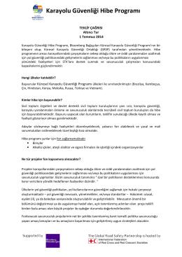 Karayolu Güvenliği Hibe Programı