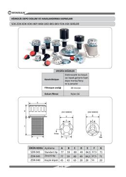 hidrolik depo dolum ve havalandırma kapakları sdk-zdk - Hid-Tek