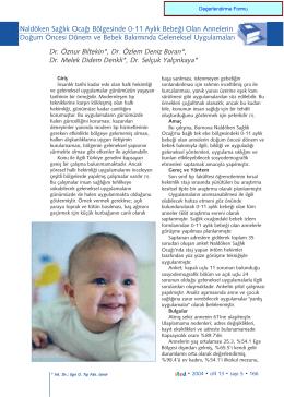 Naldöken Sağlık Ocağı Bölgesinde