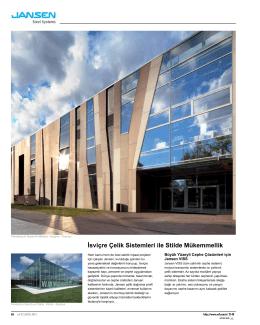 İsviçre Çelik Sistemleri ile Stilde Mükemmellik