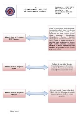 Bilimsel Hazırlık Programı Dersleri Bilimsel H