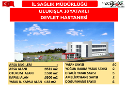 Ulukışla 30 Yataklı Devlet Hastahanesi