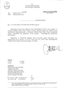 Konı.] : lu11l20I4 - mut ilçe millî eğitim müdürlüğü