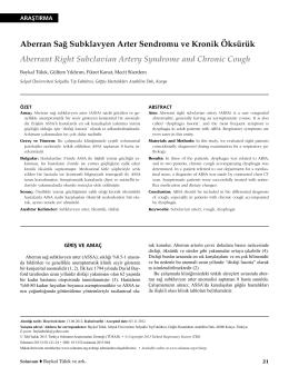 Aberran Sağ Subklavyen Arter Sendromu ve Kronik