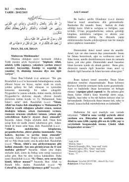 İman İslam İhsan - Manisa İl Müftülüğü