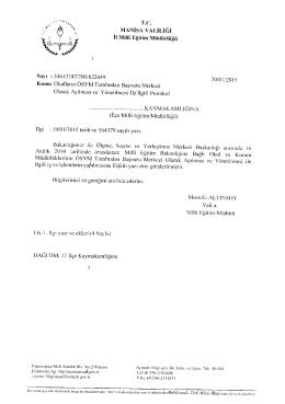 T.C. MANİSA vALİLiĞi - Alaşehir İlçe Milli Eğitim Müdürlüğü