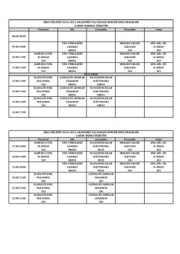 SBKY 2014-2015 Ders Programı.xlsx