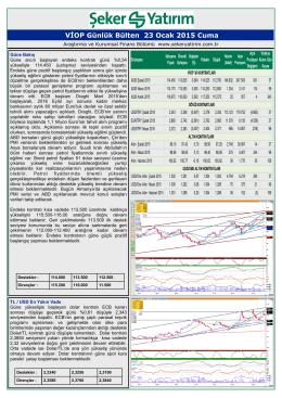 23/01/2015 - Şeker Yatırım