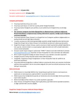 Son başvuru tarihi: 13 Şubat 2015 Sonuçların açıklanma