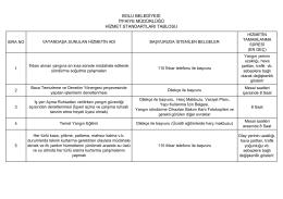 bolu belediyesi itfaiye müdürlüğü hizmet standartları tablosu