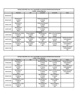 İktisat 2014-2015 Bahar Ders Programı.xlsx