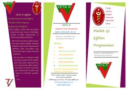 Meslek içi Eğitim Programları - VETA D Veteriner Tarım Danışmanlık